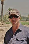 Photograph of Eric H. Cline on site at Megiddo