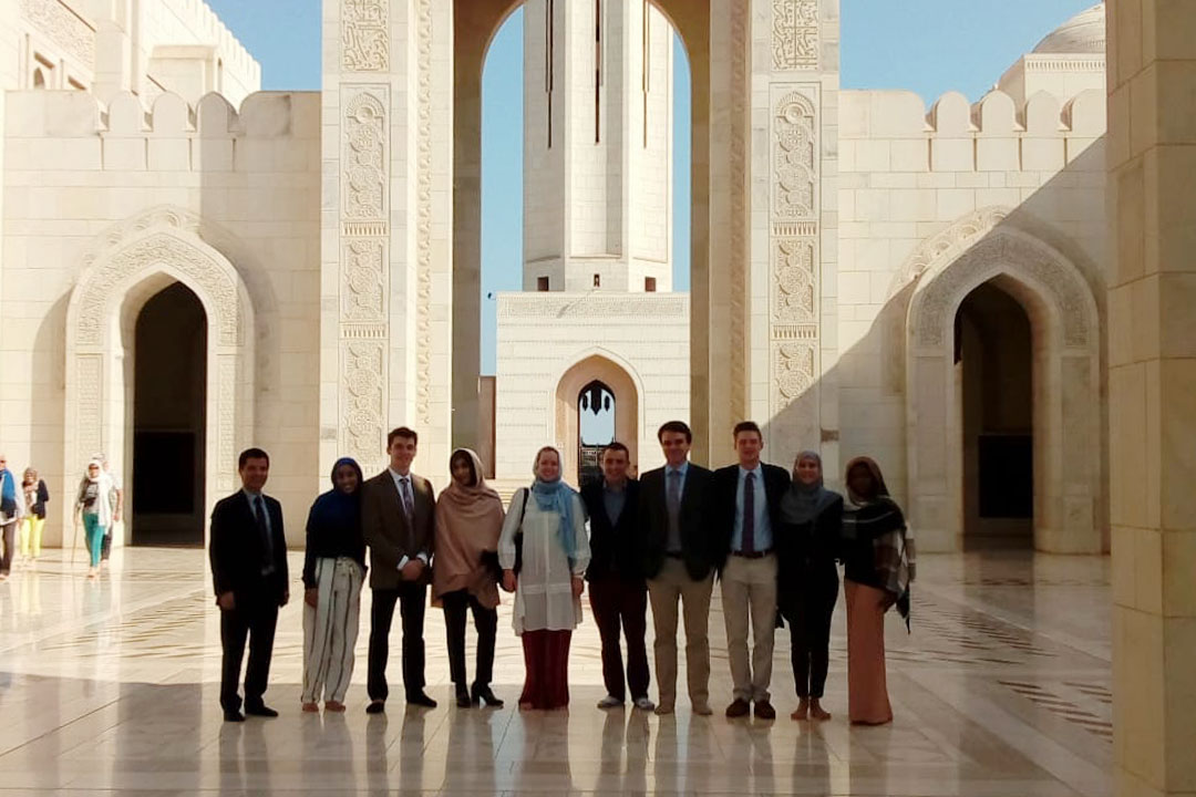 Students at an Oman Mosque for a class trip